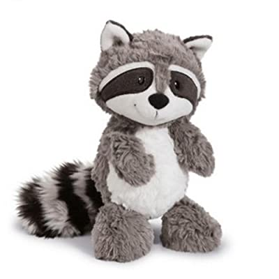 25cm Cartoon Big Tail Raccoon Plush Toy Cute Soft Stuffed Animals Doll Pillow for Girls Children Kids Baby Birthday Gifts Grey: Clothing