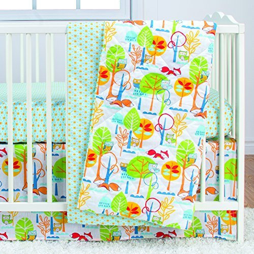 Poppi Living 3 Piece Infant Crib Bedding Set, Forest [並行輸入品]   B077ZJKVTY