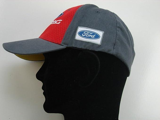 Ford Racing omse Rojo Flex Fit Rally Cruz Tiene Gris Peak Cap ...