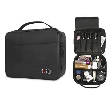 c684959cbd00 Amazon.com : BUBM Portable Cosmetic Travel Makeup Bag Train Case ...