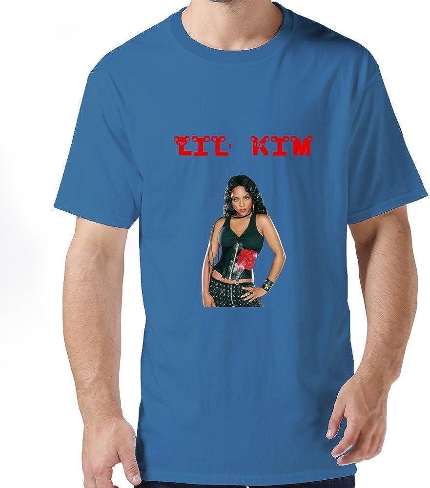 Buluew Men's Rock Lil' Kim Cotton T-Shirt Size US Natural