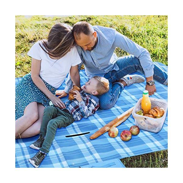 61i UyvdFFL femor Picknickdecke 200 x 200/300cm,Outdoor Stranddecke wasserdichte sanddichte tolle Picknick-Matte,Fleece…