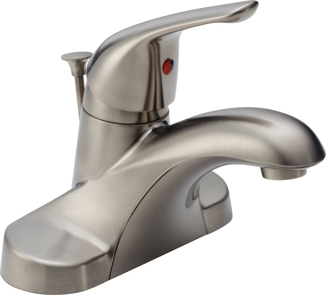 Charming Delta B510LF SSPPU Foundations Core B Single Handle Centerset Bathroom  Faucet, Stainless   Touch On Bathroom Sink Faucets   Amazon.com