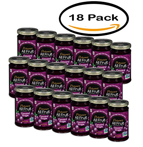 PACK OF 18 - Polaner All Fruit Spreadable Fruit Concord Grape, 10.0 OZ by Polaner All Fruit