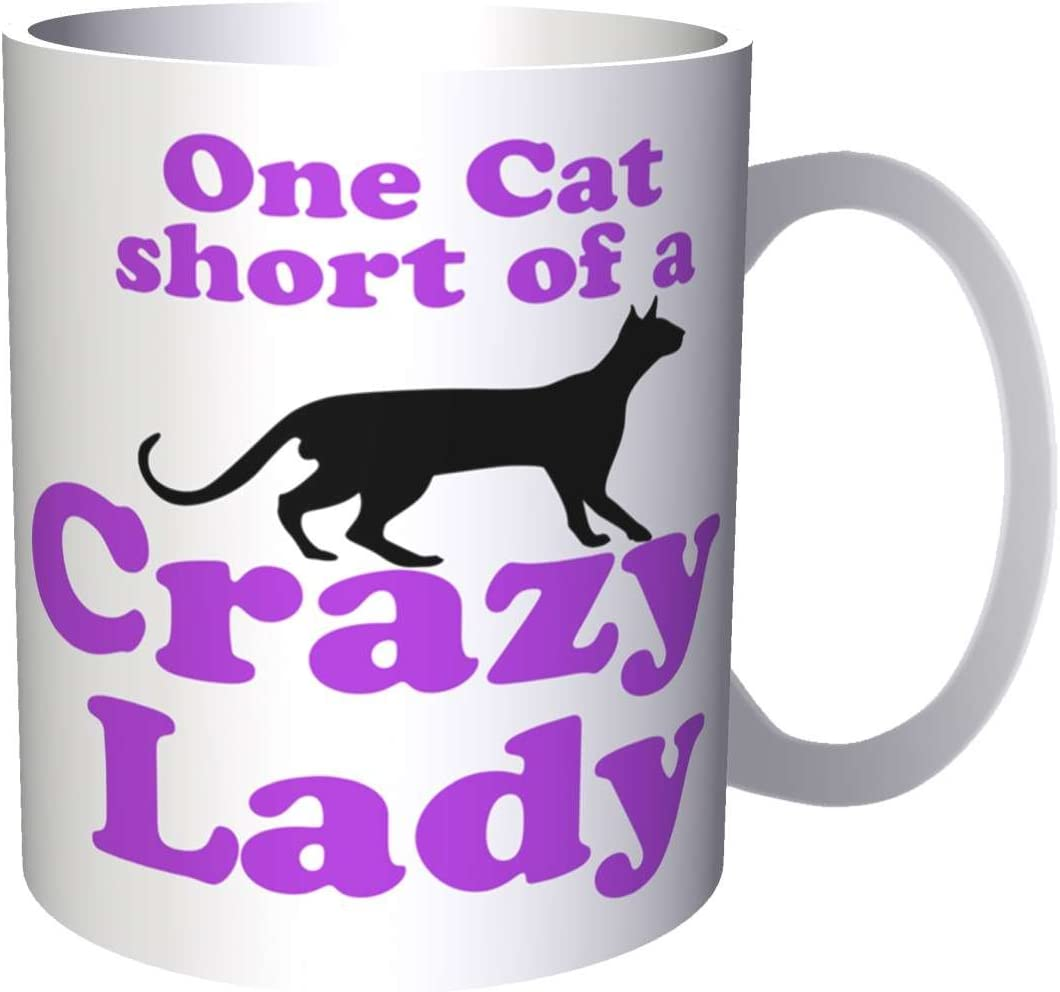 Un gato corto de una loca Lady Black Cat Club 330 ml taza ii47: Amazon.es: Hogar