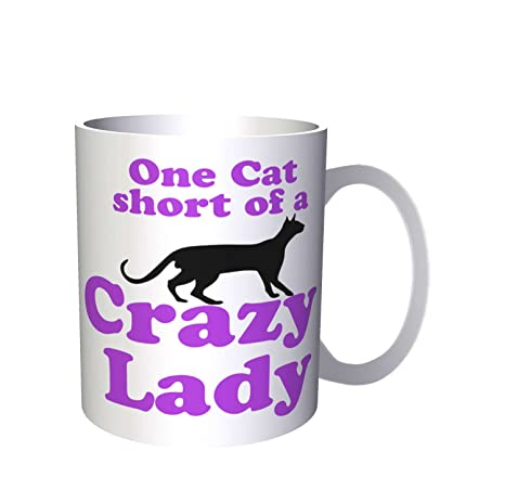 Un gato corto de una loca Lady Black Cat Club 330 ml taza ii47