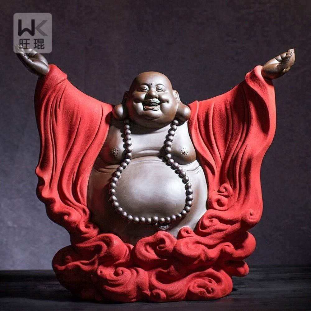 Handmade Ceramic White ceramics china Quiet Zen Figurines statue Decor