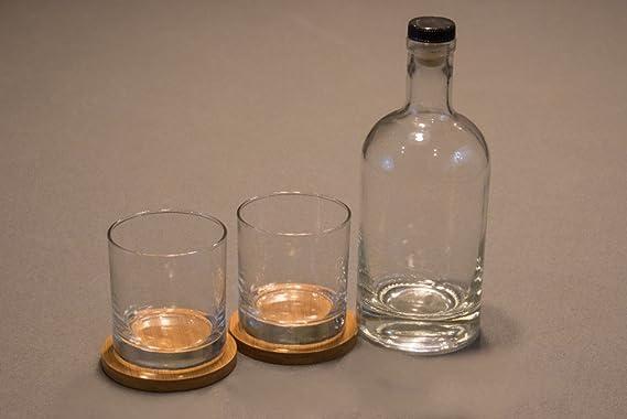 Compra Red Head Barrels Personalizada Grabado al Agua Fuerte, Grabado Botella Whisky Bourbon, Whisky Rocas Vidrios y bambú Posavasos Juego de Regalo en ...