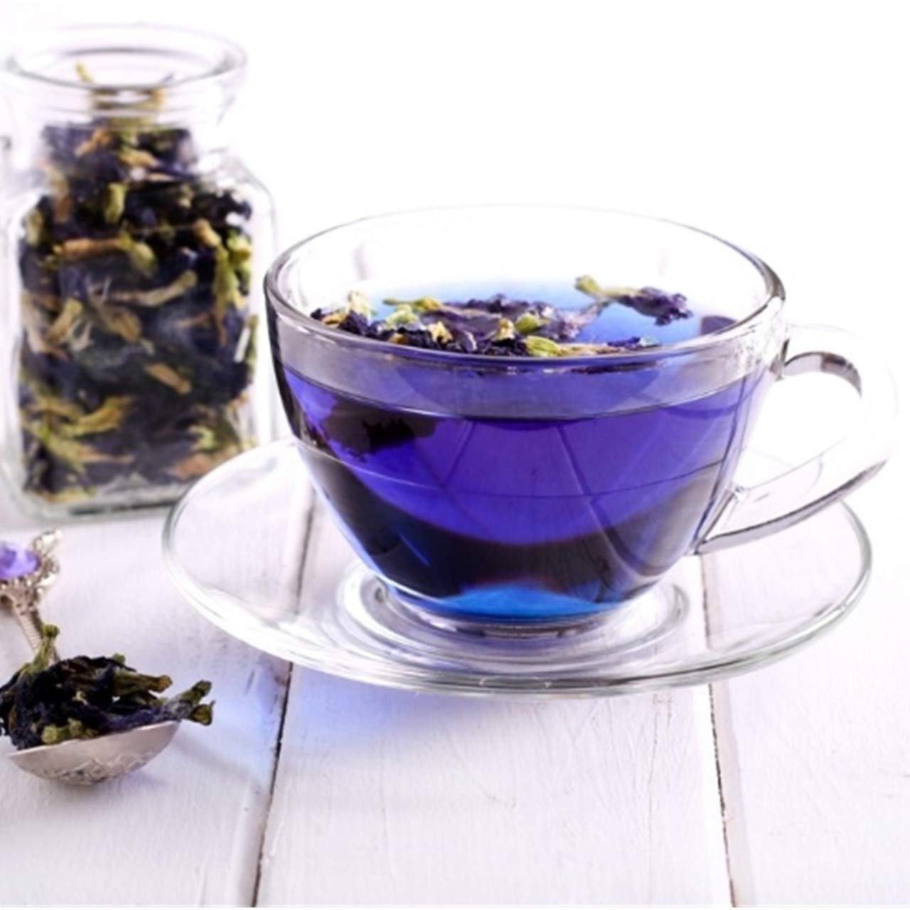 BLUE TEA - Butterfly Pea Flower- Certified Organic | 100 Cups - 25 ...