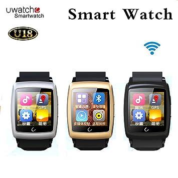 U18 Uwatch reloj inteligente Android 4.4 mtk6571 teléfono inteligente reloj de pulsera Bluetooth Smartwatch teléfono móvil 3 G WCDMA GPS WiFi: Amazon.es: ...