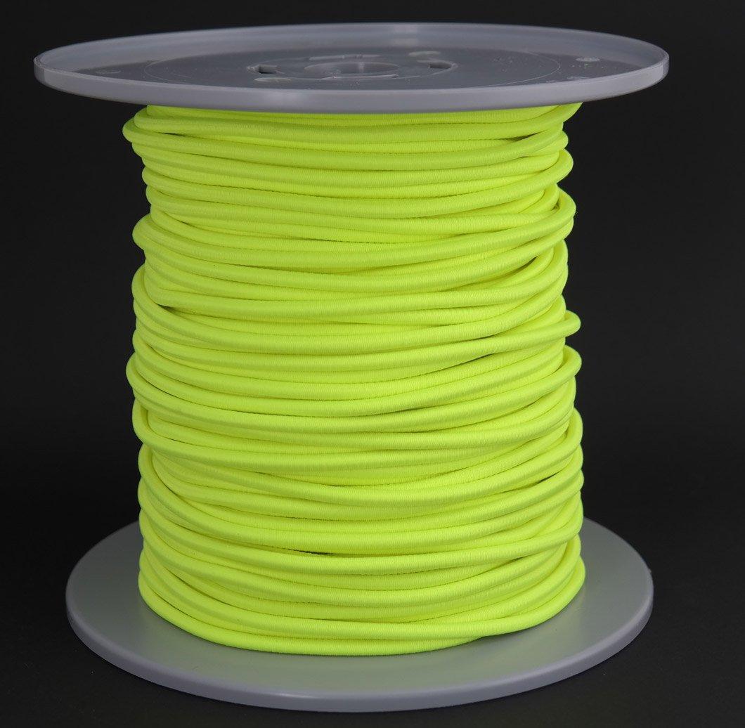 Gepolight® Gummiseil/Expanderseil 100 Meter Durchmesser 5mm neongelb Fluoreszierend (leuchtet unter Schwarzlicht)