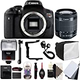 Canon EOS Rebel T6i 24.2MP Digital SLR Camera with 18-55mm EF-IS STM Lens , SF-4000 Slave Flash and Accessory Kit