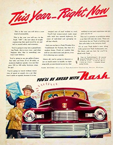 1946-ad-howard-scott-art-nash-kelvinator-600-ambassador-car-automobile-ylk1-original-print-ad