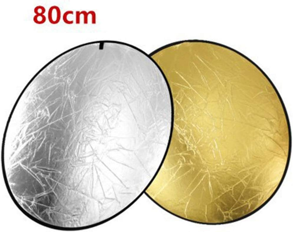YADSHENG Photographic Reflector 2 in 1 Portable Round 32Inch//80cm Multi Camera Lighting Reflector Diffuser Kit and Carrying Case 32 Round Gold Ideal for Photography Activities Reflectors