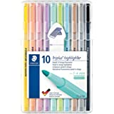 Triplus Textsurfer 362 Staedtler Box of 10 Highlighters with Bullet Tip 1 to 4 mm
