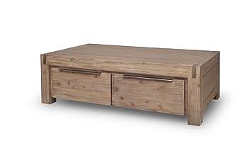 Elegant Couchtisch 140 X 80 Cm Wohnzimmertisch Tisch Hamburg Massivholz Akazie  Massivholztisch