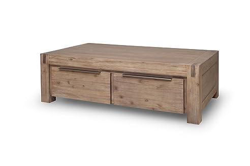 Couchtisch 140 X 80 Cm Wohnzimmertisch Tisch Hamburg Massivholz Akazie  Massivholztisch