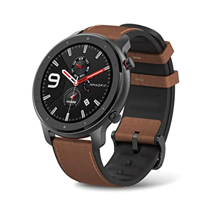 Amazfit GTR Aluminium Alloy Smartwatch with GPS+Glonass, All-Day Heart Rate Monitor, Daily Activity Tracker Rate and Activity Tracking, 24-Day Battery ...