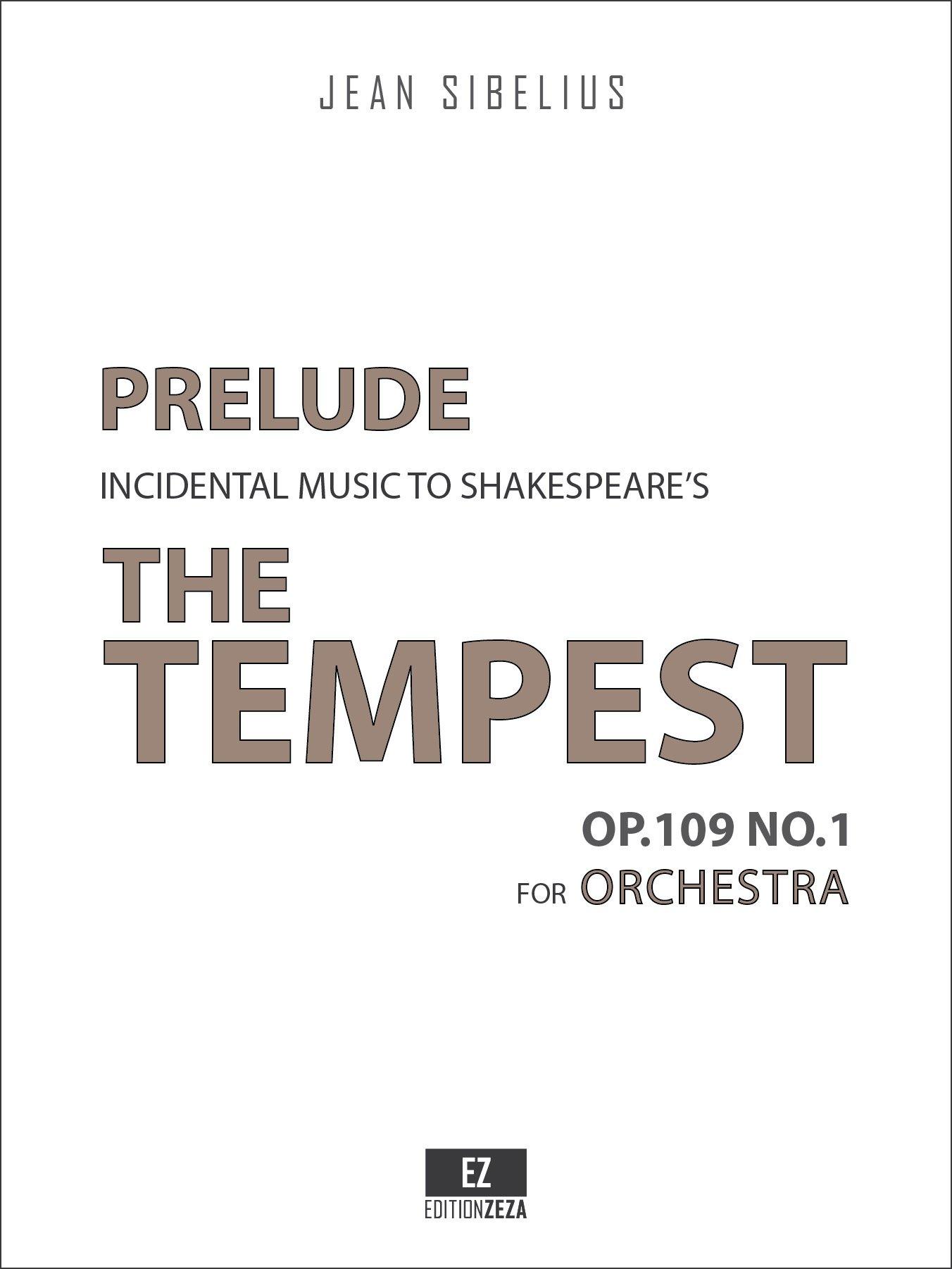 The Tempest Op.109 No.1 Prelude (SET OF PARTS) SKU:EZ-2406-SP pdf