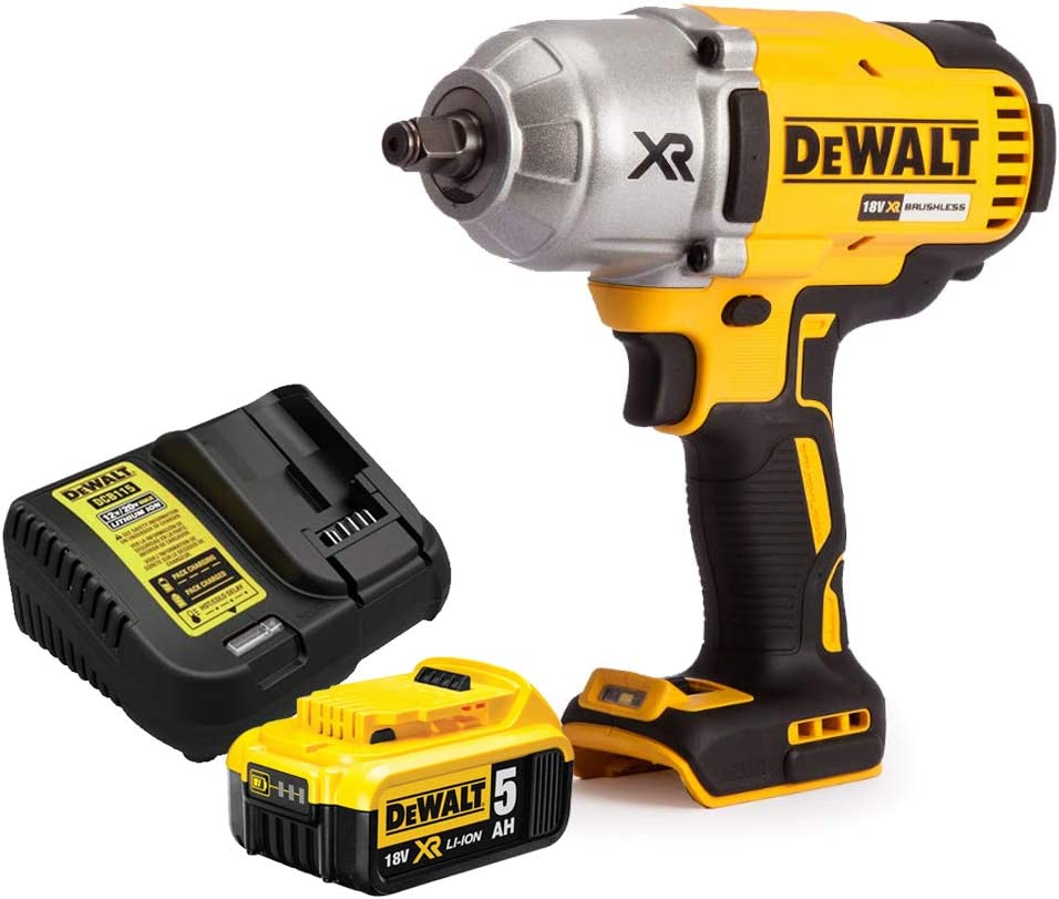 Dewalt DCF899N 18V High Torque Brushless Impact Wrench with 1 x 5.0Ah Battery /& Charger