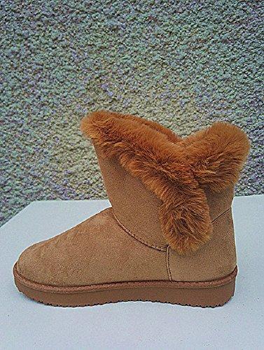 Botte Femme Fille Boots Bottine fourr Chaussure POvOUwqx5