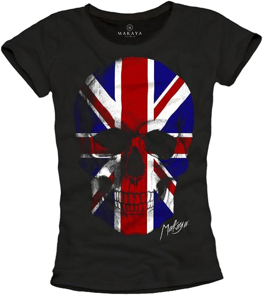 Camiseta Bandera Inglesa Mujer: Amazon.es: Ropa y accesorios