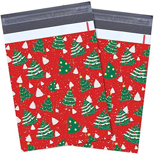 [Thicker Version]10x13 inch 50 Pack Poly Mailers Shipping Envelopes Boutique Custom Bags Sealed Christmas Gifts Boutique Custom Bag Xmas Mailer Packages with Self Adhesive Strip, Water Resistant (10 Best Christmas Gifts)