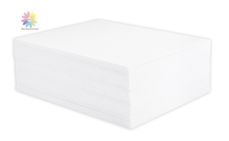 Pack of 50 11x14 3//16 BLACK Foam Core Backing Boards Mat Board Center