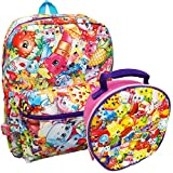 Shopkins Allover Print 16 Inch School Backpack and Lunch Bag Box Set by Moose