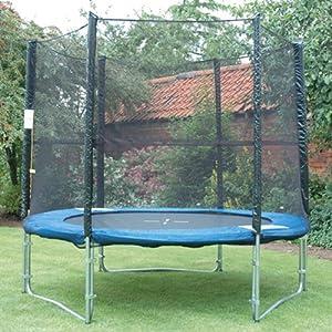 8ft outdoor garden childrens bouncy trampoline safety. Black Bedroom Furniture Sets. Home Design Ideas