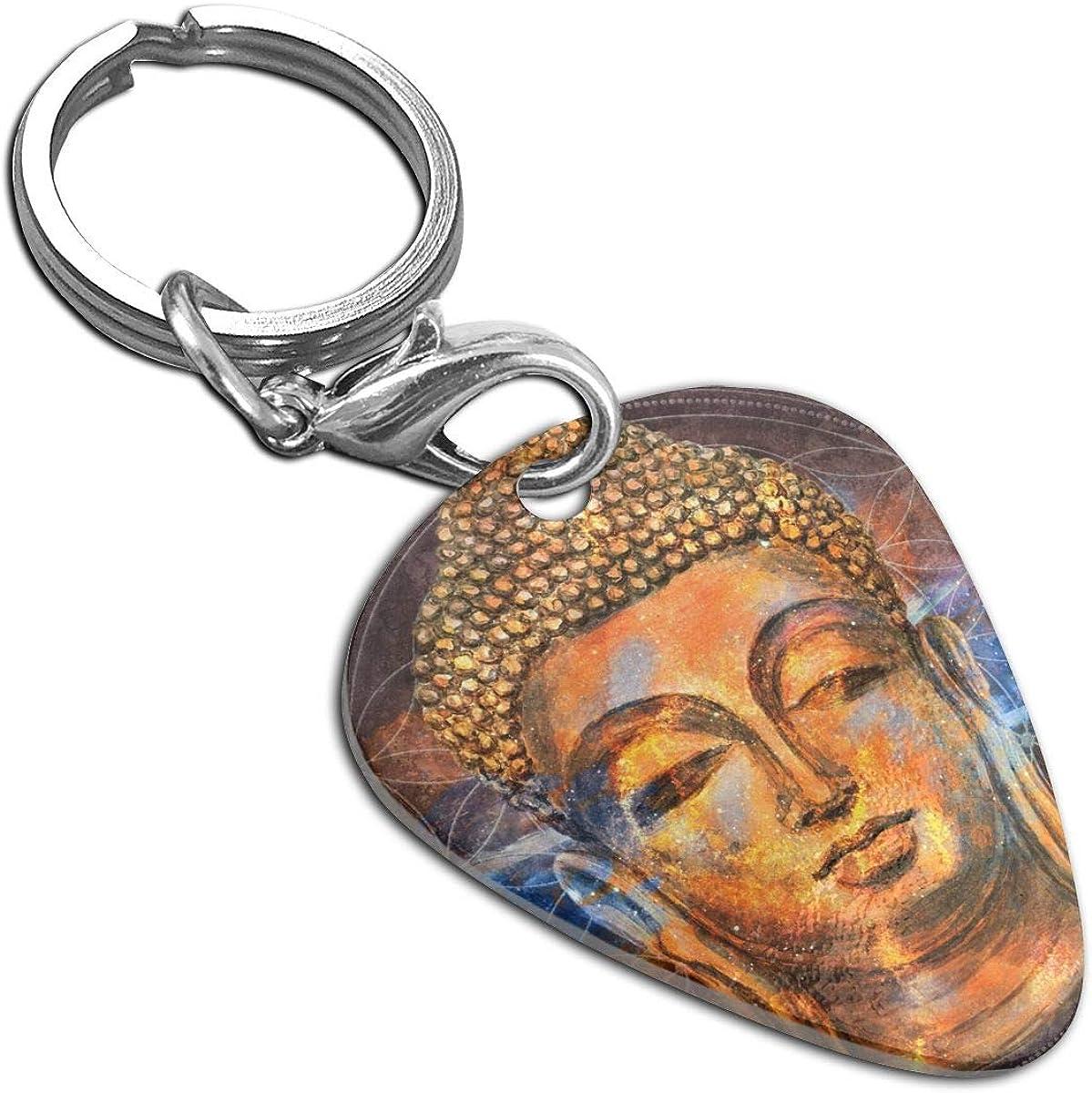 Buddha Purnima Custom Guitar Pick Pendant Necklace Keychain