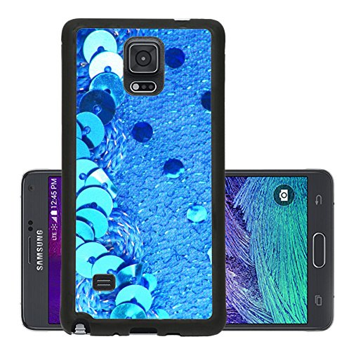 [Liili Premium Samsung Galaxy Note 4 Aluminum Backplate Bumper Snap Case sparkle sequins glitter texture] (Glamour Costumes 2016)