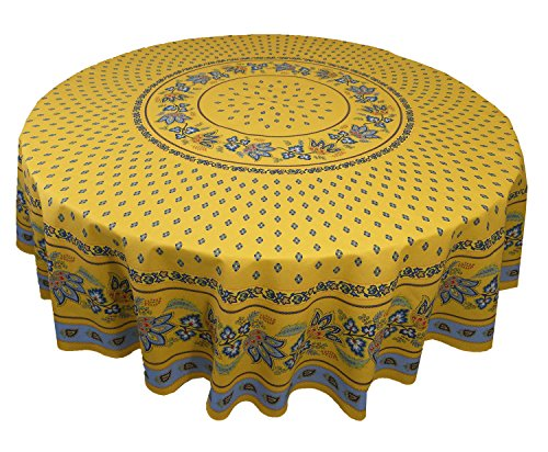 Lisa Dining Collection (Le Cluny French Country Lisa Cotton Tablecloth, 70