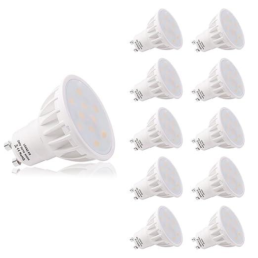 LOHAS GU10 Bombillas LED, Blanco Cálido 4000K, Bombillas LED ...