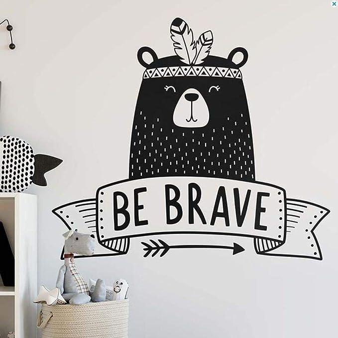 Decoración de la habitación de los niños Be Valiente Cita Tatuajes ...