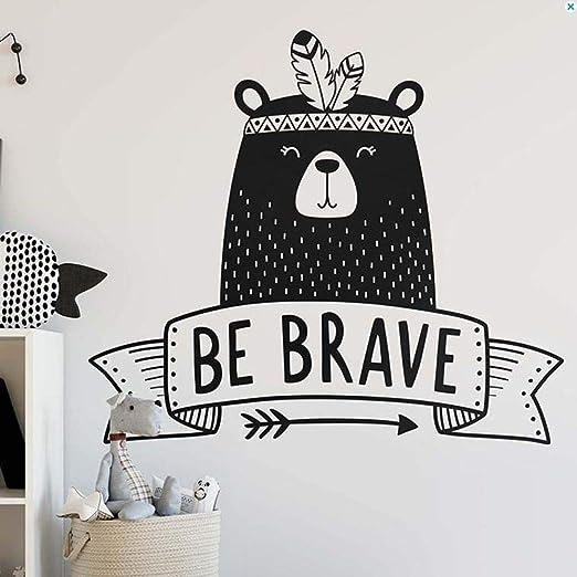 zqyjhkou Decoración de la habitación de los niños Be Brave Quote ...