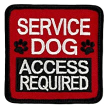 "SERVICE DOG ACCESS REQUIRED Sew-On Embroidered Patch - 2.5"" X 2.5"""