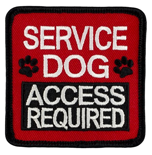 SERVICE DOG ACCESS REQUIRED Velcro Embroidered Patch - 2.5