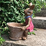 ZHAS American Countryside Pastoral Cute Rabbit Ashtray Animal Decoration Ashtray furnishings, 24 20CM
