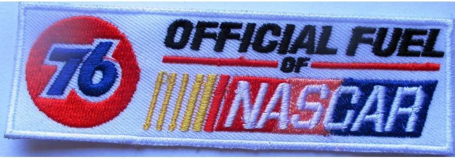 hotrodspirit Patch 76 Oil Fuel nascar rectangulaire Blanc c/écusson Veste Blouson