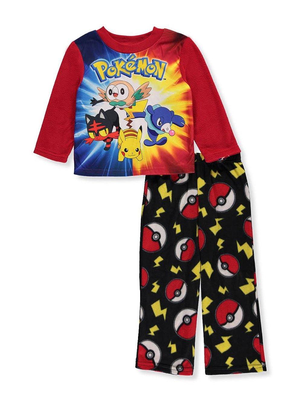 Red//Black PK090BLL4 Little Kid//Big Kid Pokemon Boys Fleece Pajamas
