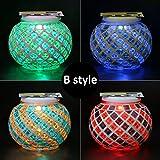 Etbotu Garden Light Solar-powered Pretty Glass Ball Yard Lamp Decoration