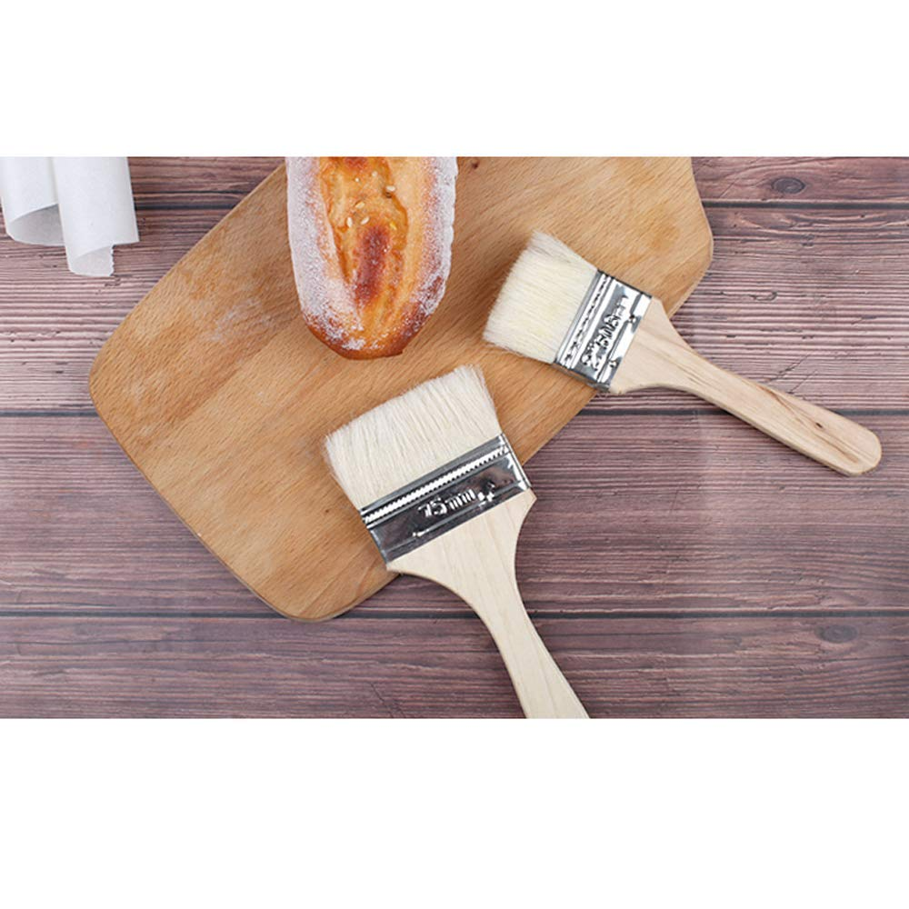 Flessibili Resistenti al Calore Mein HERZ 10 Pezzi Fibra Naturale Pennelli da Cucina Multiuso Antiaderenti Manico in Legno Privo di BPA Pennelli da Cottura per Pasticceria e Barbecue