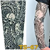 HANYI Protective Sun Arm Cooling Sleeve Warmers Cuffs UV Protection Mens Sleeves (C)