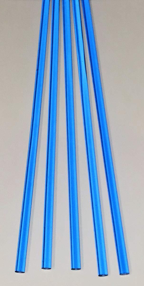 ".25 Dia 5 Pcs 1//4/"" Diameter x 12/"" Inch Long Color Green Clear Translucent Fluorescent Acrylic Plexiglass Lucite Rods 6.35mm"