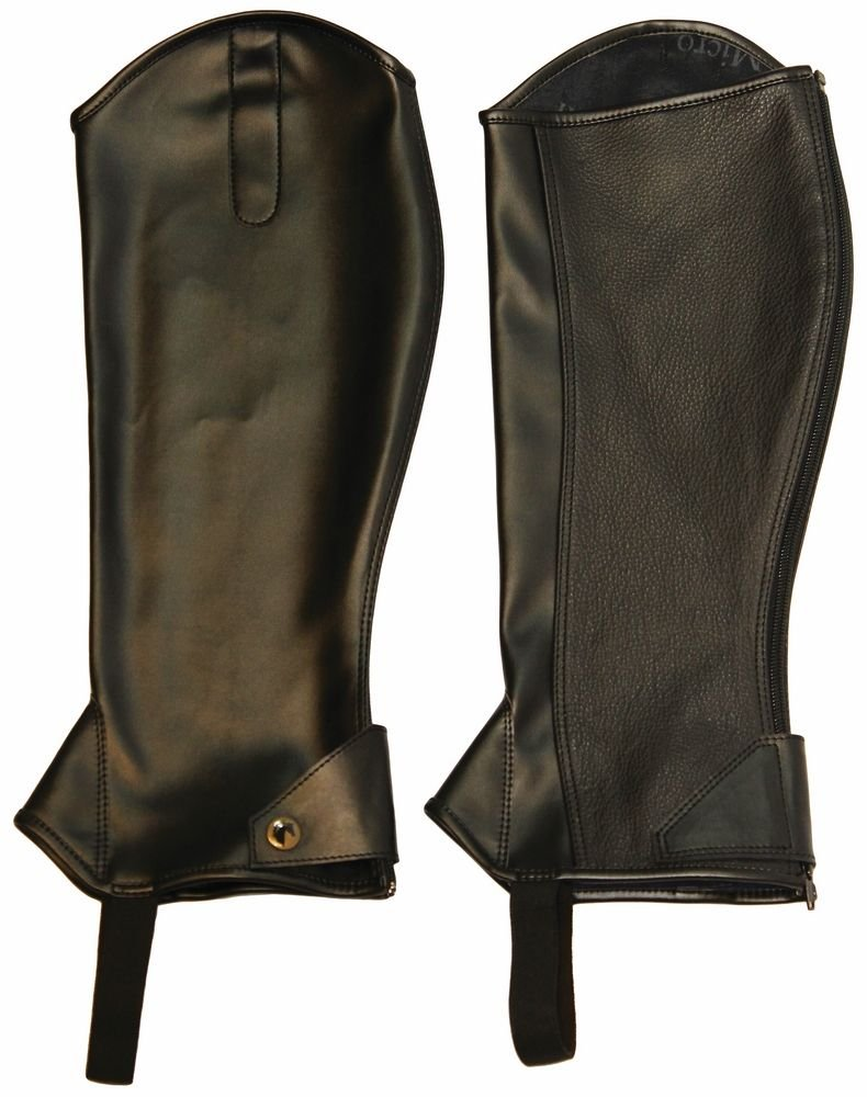 Black Small Black Small MICRO TOUCH HALF CHAPS ADULT