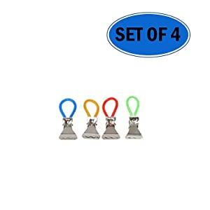 Hanging Metal Towel Clips | Set of 4 - by Home-X