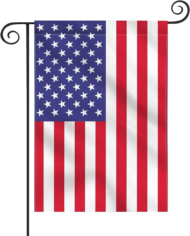 hogardeck Garden Flag American Flag, 12.5x18 US Garden Flags Double Sided, UV Protected, Vivid Color, USA Flag Garden Decor