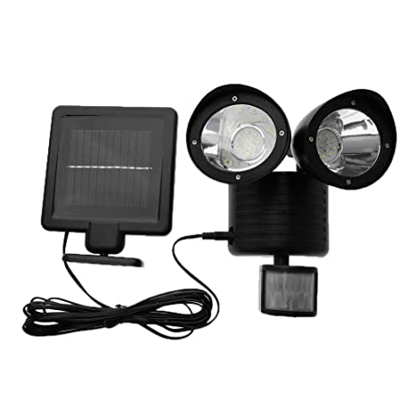 Childplaymate Waterproof 22 LED Solar Power Security Light PIR Motion Sensor Double Solar Wall Lights