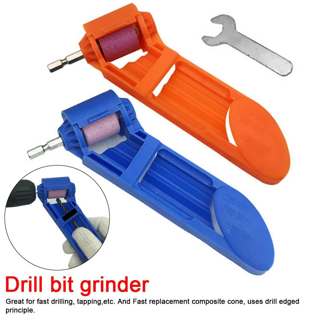 Portable Twist Drill Bit Sharpener Portable Powered Tool for Drill Polishing Wheel Drill Bit Sharpener or Grinder Tools-【砂轮】进口黏结挤